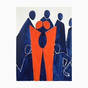 Waleria Matelska, Twins, 2020, Acrylic on Paper