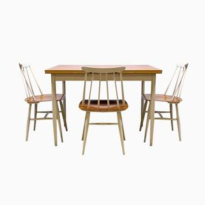 Fanett Dining Set by Ilmari Tapiovaara for Edsby Verken