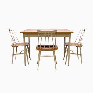 Fanett Dining Set by Ilmari Tapiovaara for Edsby Verken