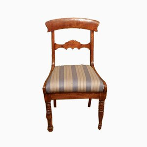 Late Biedermeier Birch Upholstered Chair, 1860s