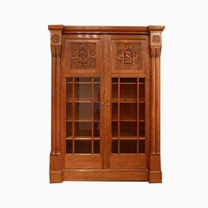 Art Nouveau Oak Library Cabinet, 1910