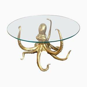 Sculptural Octopus Gilt Bronze Center or Dining Table