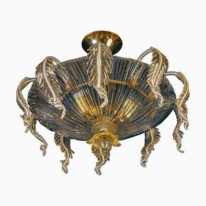Venetian Murano Glass Chandelier or Ceiling Light, 1970
