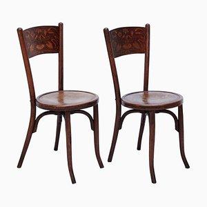 Stühle im Stil von Thonet von Codina, 1900er, 2er Set