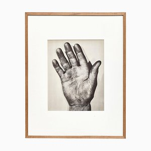 Black and White Right Hand Photogravure Plate by Ernest Koehli, Framed