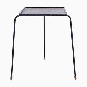 Mid-Century Modern Black Lacquered Metal Soumba Table by Mathieu Matégot