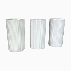 Op Art Porcelain Vases by Melitta All, Germany, 1970s, Set of 3