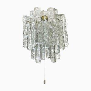 Große Hollywood Regency Eisglas Wandlampe von JT Kalmar, 1970er