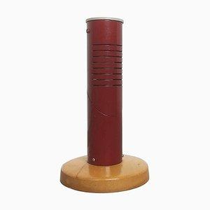 Moderne schwedische Schreibtischlampe aus rotem Metall, 1950er