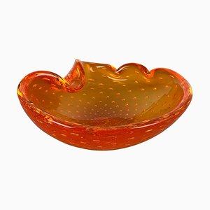 Murano Glass Honey Bowl Element Shell Ashtray, Italy, 1970s