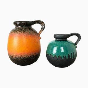 Modell 484 Pottery Fat Lava Vasen von Scheurich, 1970er, 2er Set