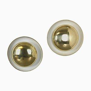 Messing Metall Wandlampen von Gio Ponti, Italien, 1950er, 2er Set