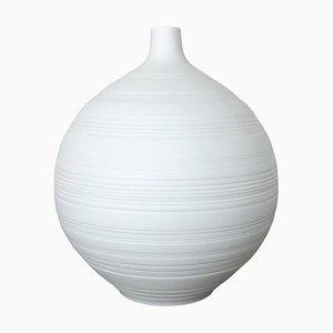 Op Art Biscuit Porcelain Vase by Hans Eighties for Hutschenreuther, 1970s