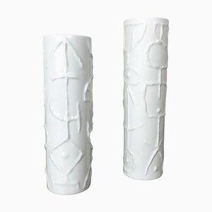 Abstrakte Porzellanvasen von Cuno Fischer für Rosenthal, 1980er, 2er Set