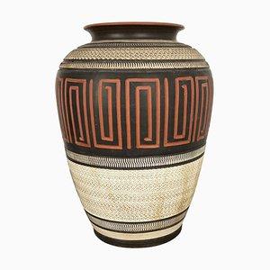 Large Handmade Ceramic Pottery Floor Vase from Korinth, Germany, 1960s