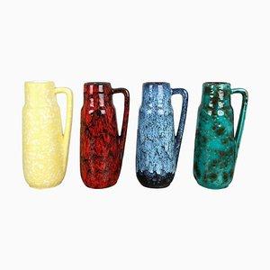 Vintage Fat Lava 275-20 Keramikvasen von Scheurich, 1970er, 4er Set