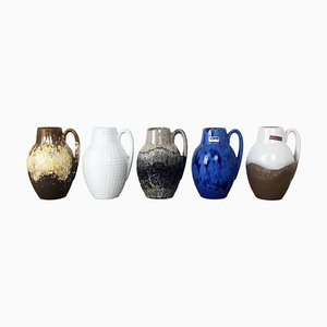 Vintage Pottery Fat Lava 414-16 Vases from Scheurich, Germany, Set of 5
