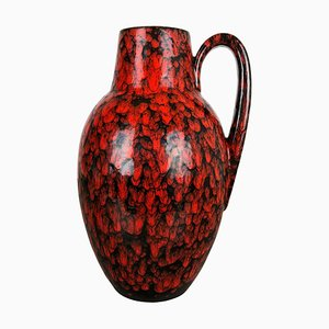 Large Pottery Fat Lava Multi-Color 270-38 Vase from Scheurich, 1970s