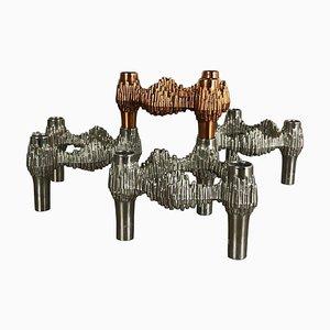 Deutsche Variomaster Kerzenhalter aus Metall von Quist, 1970er, 4er Set