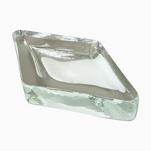 Murano Eisglas Schale von Antonio Da Ros für Cenedese, 1970er