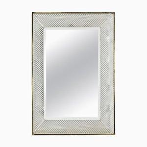 Mid-Century Bauhaus Metall Spiegel im Stil von Mathieu Matégot, Frankreich, 1960er