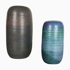 Keramikvasen von Piet Knepper für Mobach Netherlands, 1970er, 2er Set