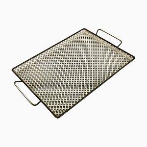 Französisches Modernistisches Messing Tablett Rigituelle im Stil von Mathieu Matégot, 1950er