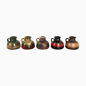 Fat Lava Ceramic 493-10 Vases from Scheurich, Germany, Set of 5