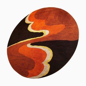 Großer psychedelischer Hochflorteppich von Cromwell Tefzet, Deutschland