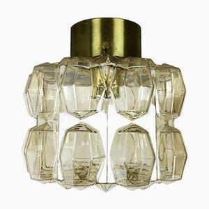 Moderne deutsche Diamant Deckenlampe von Glashütte Limburg, 1970er