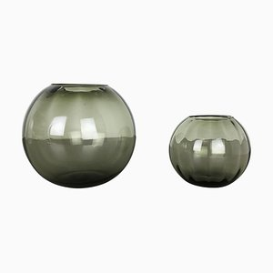 Turmalin Series Ball Vases by Wilhelm Wagenfeld for WMF, Germany, 1960s, Set of 2