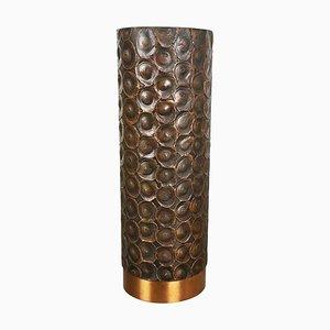 Brutalist Sculptural Copper Vase in the Style of Auböck, Austria, 1950s