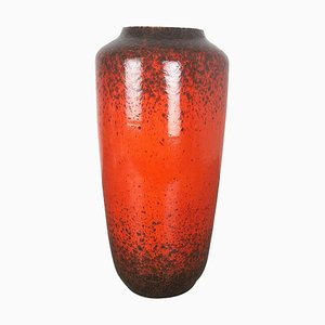 Large Multi-Colored Fat Lava Ceramic 517-45 Vase from Scheurich, 1970s
