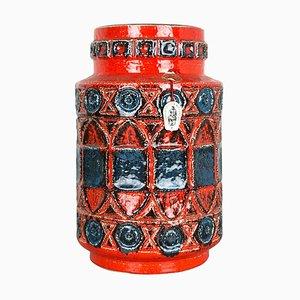 Vaso Fat Lava 92 35 in ceramica colorata di Bay Keramik, Germania, anni '60