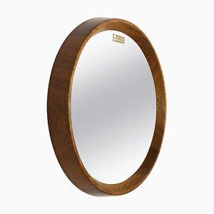 Specchio in cristallo e legno di quercia, Germania, anni '60