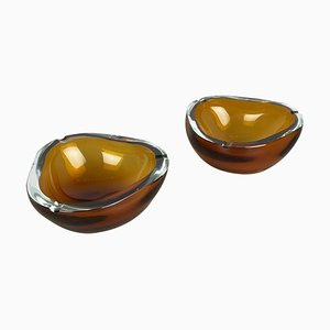 Murano Glass Ashtray Elements by Antonio da Ros for Cenedese, 1960s, Set of 2