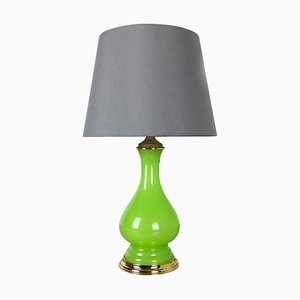 Opaline Murano Glass Green Table Light by Cenedese Vetri, 1960s