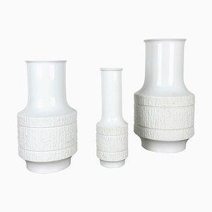Op Art Porcelain Vases by Richard Scharrer for Thomas, Germany, 1970s, Set of 3