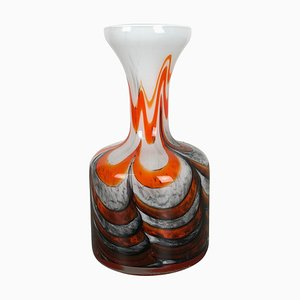 Large Multi-Colored Opaline Florence Vases, Italy, 1970s