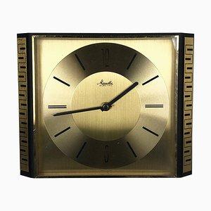 Reloj de pared Hollywood Regency vintage de latón, Alemania
