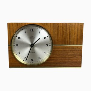 Teak Table Clock from Junghans Electronic, Germany, 1960s
