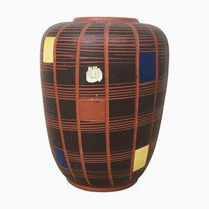 Kubische Vintage Keramik Vase von Hükli Ceramic, Deutschland