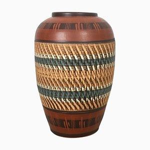 Large Vintage Handmade Ceramic Pottery Floor Vase, Germany, 1960s