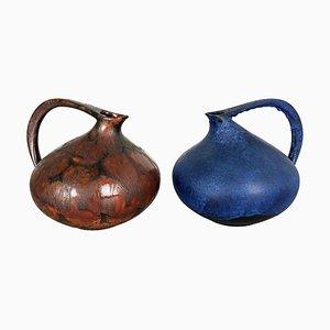 Pottery 313 Vases by Kurt Tschörner Ruscha, Germany, 1960s, Set of 2