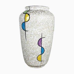 Colorful Fat Lava Ceramic 575 25 Vase from Bay Keramik, Germany, 1950s
