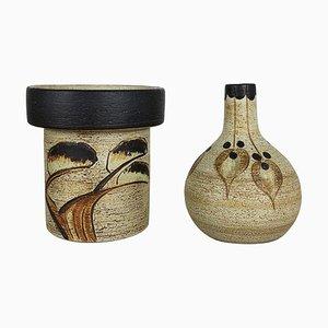 Modernist Vase Sculptures by Peter Müller for Sgrafo Modern, Germany, 1970s, Set of 2