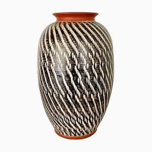 Vaso vintage astratto in ceramica di Wekara, Germania, anni '60