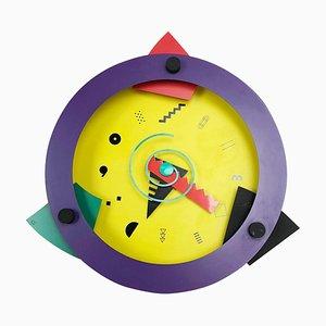 Reloj de pared Paradise posmoderno de Shohei Mihara para Wakita, Japan, años 80