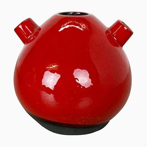 Red Ceramic Studio Pottery Vase from Marei, Germany, 1970s