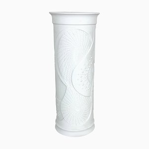 Large German Op Art Biscuit Porcelain Vase from AK Kaiser, 1970s